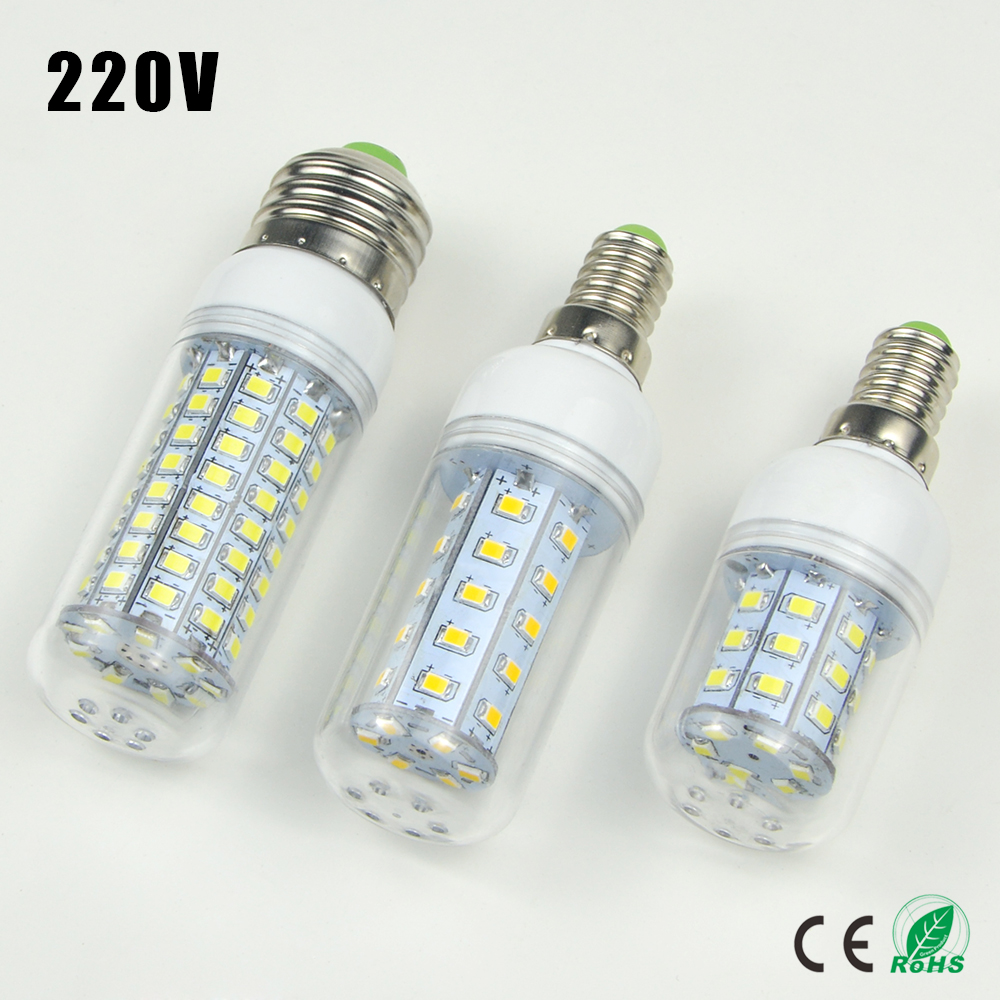 1x 30 36 48 56 69 89 102leds E14 E27 220v Led Corn Light Bulb Replace Compact Fluorescent Lamp