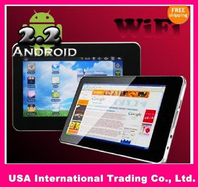 """cheapest 7"""" 8650 Android 2.2 3G Tablet PC 800MHZ Support Flash 10.1"""