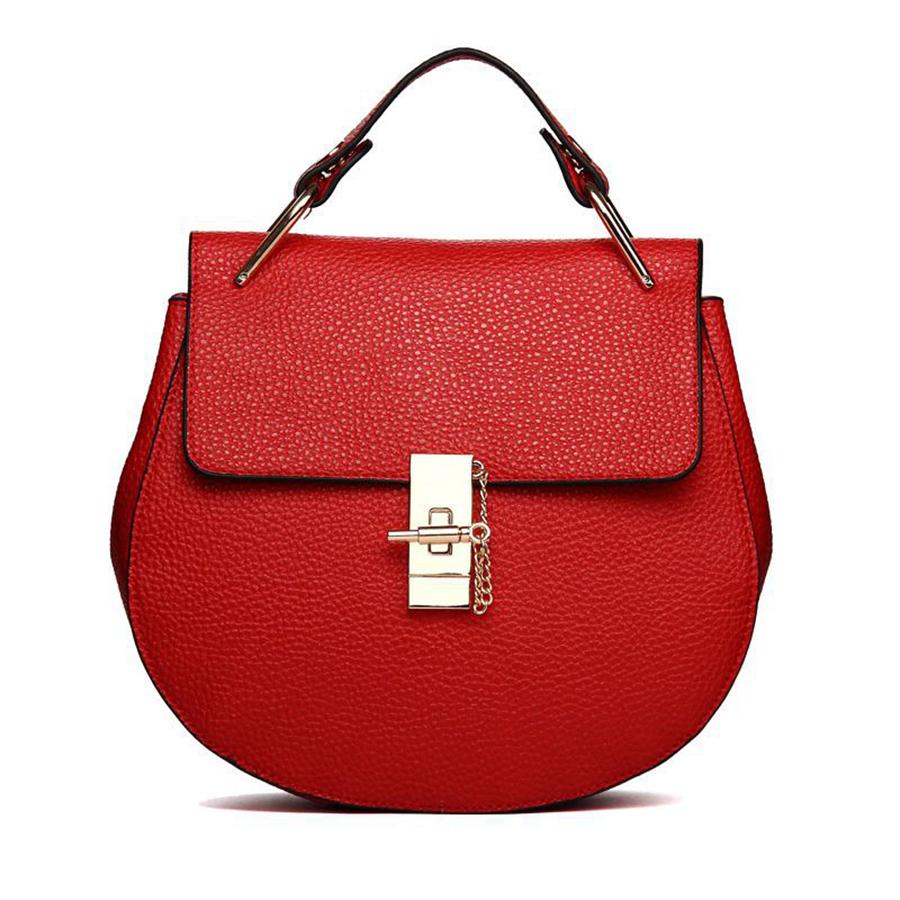 2015 New Autumn Red Bolsa Feminina Fashion Leather Handbags Women Handbag European Messenger Bags Party Bags Satchels Women B32()
