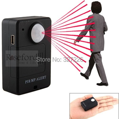 Portable Motion Dection Mini PIR Alert Infrared GSM Alarm A9 Black with Call Back Function(China (Mainland))