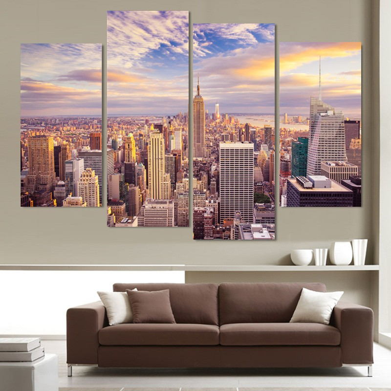 5 piece canvas painting wall picture for living room home for Piece of living room decor