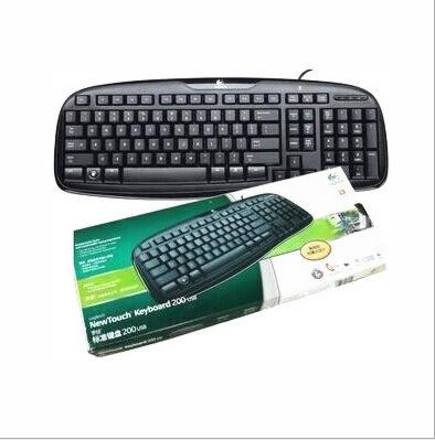 Logitech Standard Keyboard wired keyboard and mouse set keyboard USB/PS/2 waterproof keyboard and mouse combo(China (Mainland))
