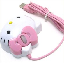 Wholesale Free Shipping Dropship New Hello Kitty Optical 1200dpi USB Mouse For Laptop PC