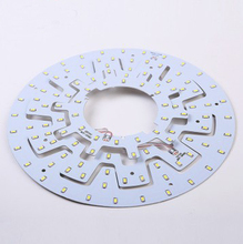 Free shipping 12W 15W LED PANEL Circle Light AC85-265V SMD5730LED Round Ceiling board the circular lamp +power supply+Magnetic