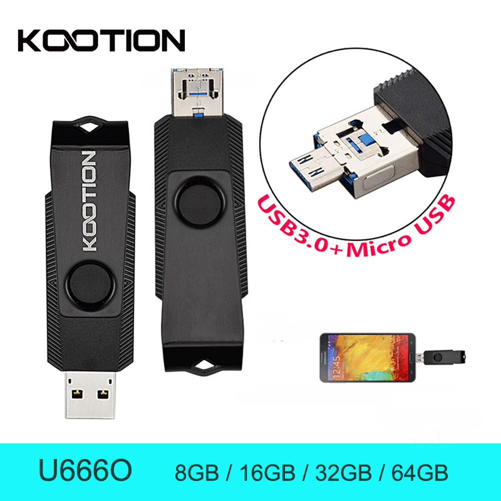 Mini Cle USB Flash Drive OTG USB 3.0 Pendrives 8G 16GB 32GB 64GB Flash Memory Stick H2testw Micro USB For Andriod(China (Mainland))