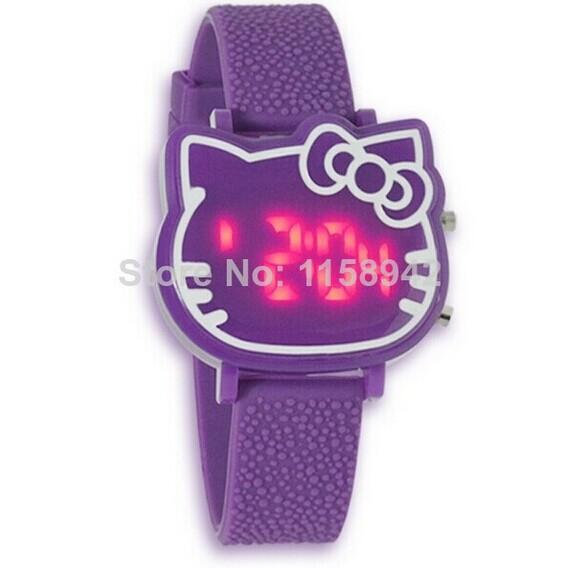 2014 New Fashion Brand Children Digital Watches Men Women Dress Watches Silicone Led Hello Kitty Cartoon Watch Hot(China (Mainland))