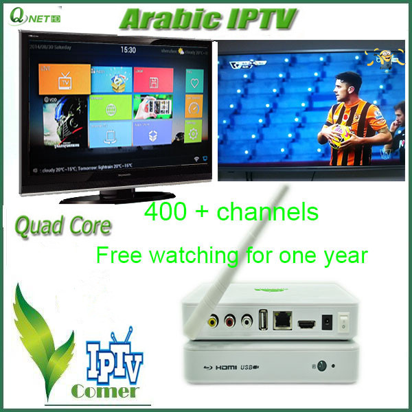 Global IPTV Box Arabic IPTV Set Top Box WIFI was Built and IPTV Come With the KODI and VOD(China (Mainland))