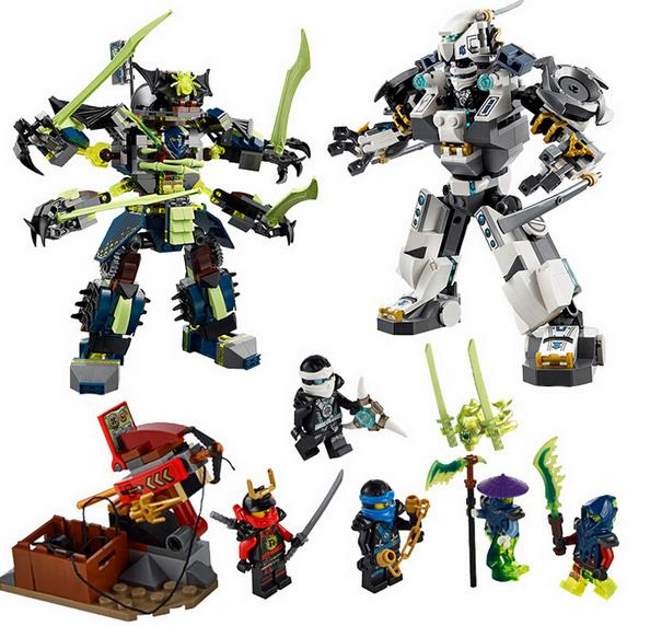 LELE Ninjagoed Marvel Phantom Ninja Titan Titanic Robot Mech Battle Zane Jay Building Blocks Sets Minifigures Kids Toys Gifts(China (Mainland))