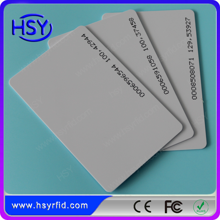 20pcs a lot PVC Material RFID Proximity smart 125khz TK4100 EM ID card with serial number use for access control(China (Mainland))
