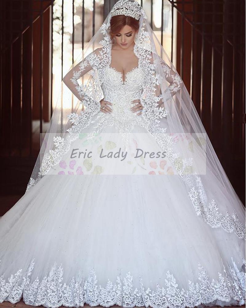 Buy 2015 long sleeve wedding dress v neck for Who buys wedding dresses