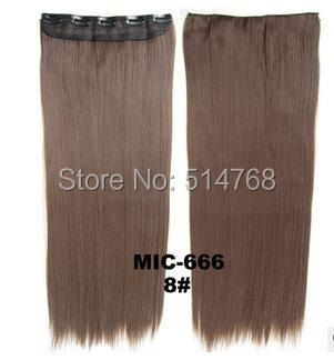 2014 fashion 24 inch synthetic clip hair extensions long straight piece women  -  Yiwu Will Fashion Shop store