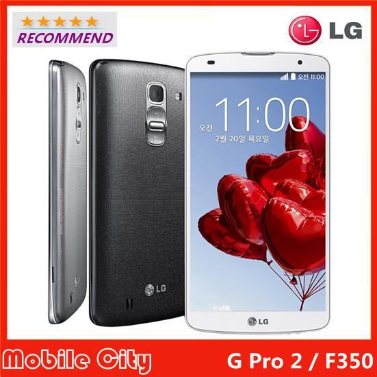LG G Pro 2 F350 Original Factory Unlocked Refurbished cell phone Quad core 3G RAM 32G ROM 13MP WIFI 4G 5.9'' Touch Free Shipping(China (Mainland))
