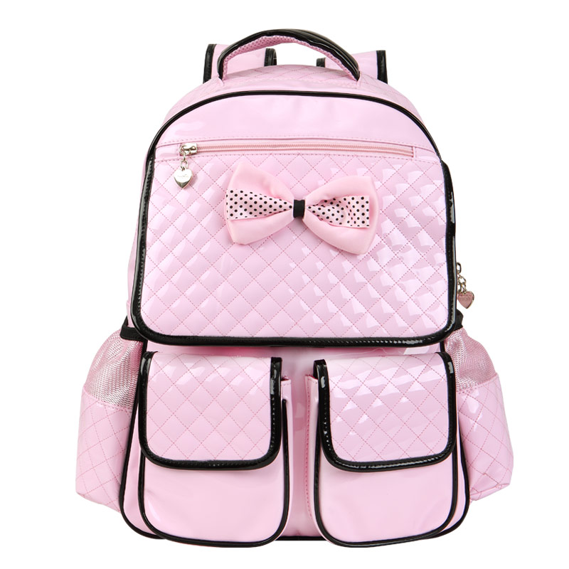 Buy japanese school bag online - School Bags Children Backpacks Bow Pink Backpack School Bag Shining