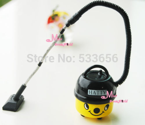 1/12 Dollhouse Miniature Yellow HATTY Vacuum Cleaner Cute Toy Gift for boy girl children kids BJD(China (Mainland))