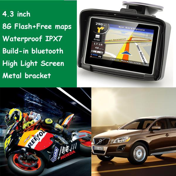 4.3 inch motorcycle gps navigation motorcycle waterproof gps moto/motorcycle Prolech MT-4302B(China (Mainland))