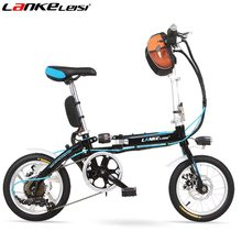 "6 Speed, 14"", Mini Type, High-carbon Steel, Soft-tail Bike, Mechanical Disc Brake, Folding Electric Bicycle.(China (Mainland))"