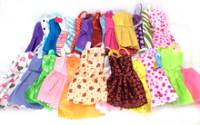 NK 10 Pcs Mix Sorts Beautiful Party Clothes Fashion Dress For Barbie Doll Best Gift Toys(China (Mainland))