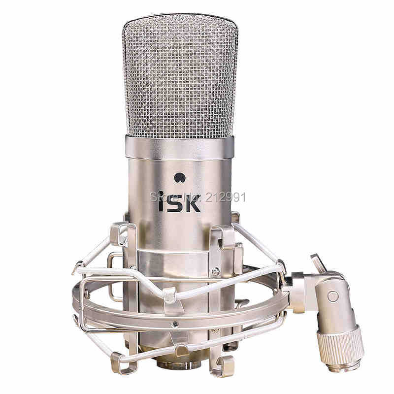 2015 ISK BM-800 Pure Gold Coating sound head professional recording microphone music create broadcast and studio microphone(China (Mainland))