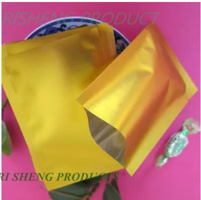 9x13 cm bolso ping, 200 x Ouro Fosco Sacos De Alumínio calor selável, Topo Aberto Mudo folha de Mylar Aluminizado sachê Bolsa De Plástico alimentar(China (Mainland))