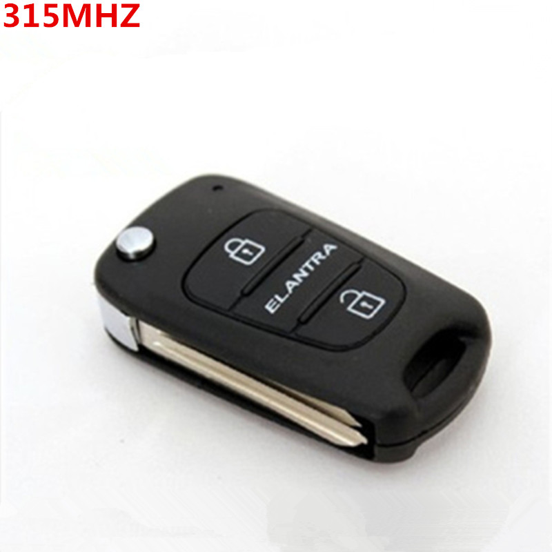 2pcs/lot for flip folding remote key for Hyundai Elantra 315MHZ with ID46 chip No Battery s513(China (Mainland))