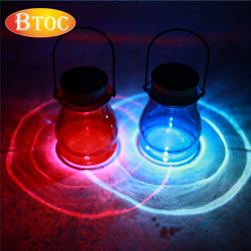 2016 summer new style Aurora Glass bottle LED solar light blue red light Solar energy Beautiful solar lamp Romantic atmosphere(China (Mainland))