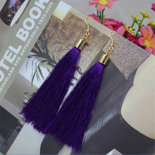 Free shipping new fashion temperament exaggerated vintage original tassel earrings for women(China (Mainland))