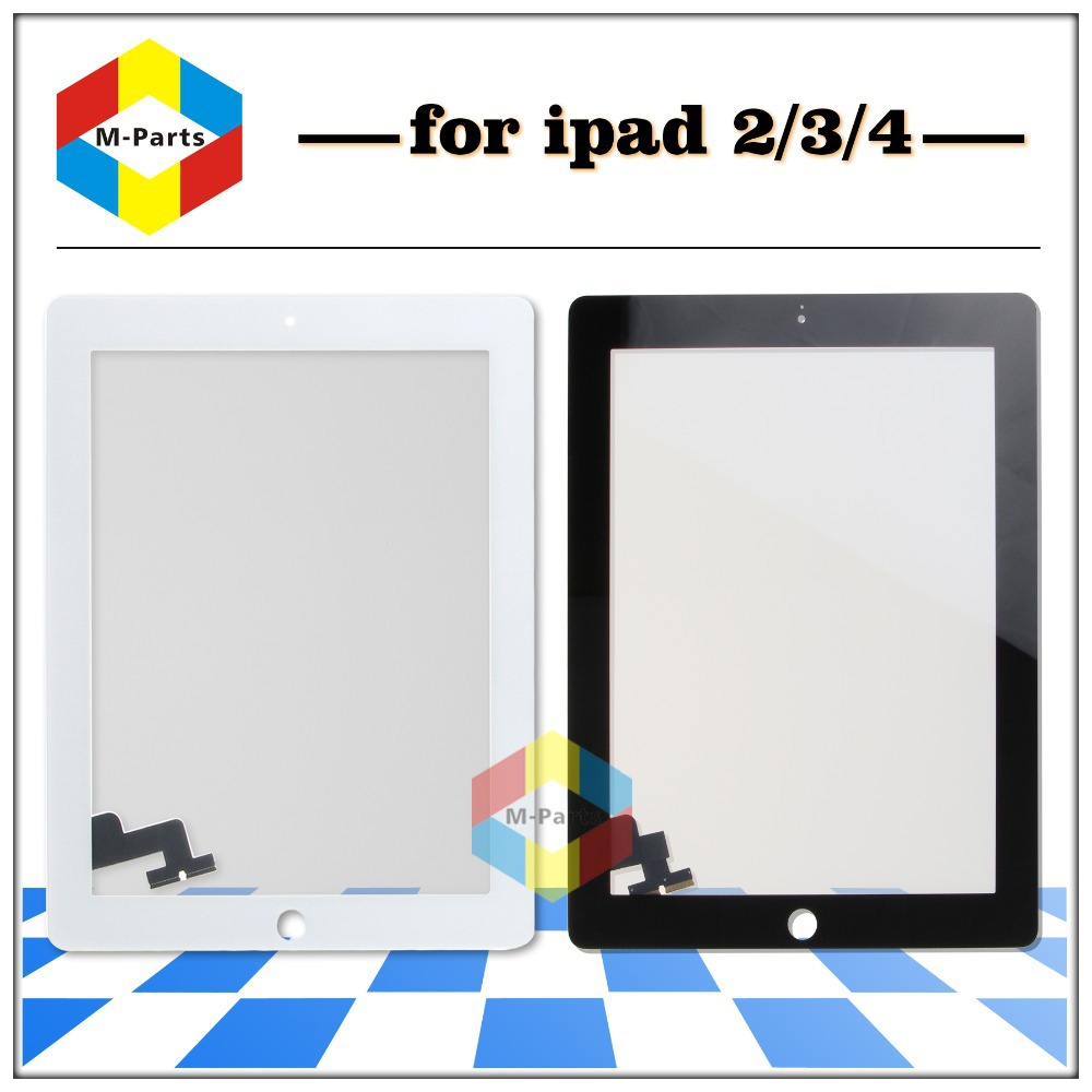20 pcs/lot Glass Digitizer + Touch Screen for iPad 2 3 4 Black and White(China (Mainland))