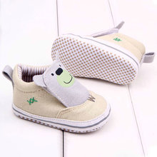 Baby Girl Boy Cotton Cloth Casual Cartoon Booties Slip On Unisex Walking Shoes