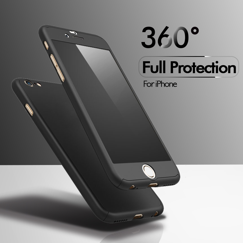 FLOVEME 360 Degrees Protective Case For iPhone 6 6S 7 Plus Tempered Glass PC Front Back Full Body For iPhone 6 6s 7 Plus Shells(China (Mainland))
