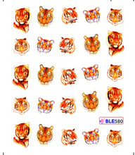 1 sheet Wild Animal Monster Water Transfer Stickers Watermark Fingernail Decals For Nails DIY Decorations Manicure