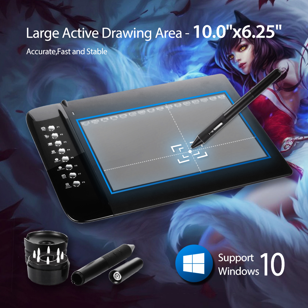 """New UGEE M1000L Art Graphics Drawing Digital Tablet Ultra Thin Large Active Area 10""""x6.2"""" pen signature PC Laptop(China (Mainland))"""