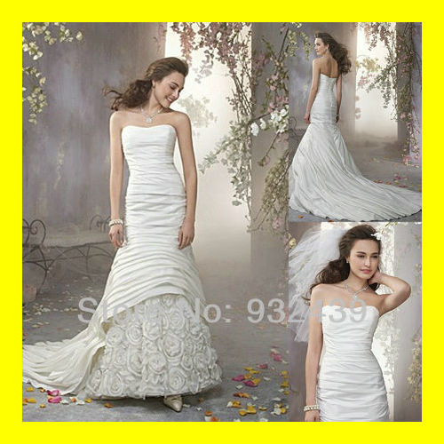 Gypsy Wedding Dress Plus Size Beach Dresses Black And White Informal Rockabilly A-Line Floor-Length Chapel Train F 2015 In Stock(China (Mainland))