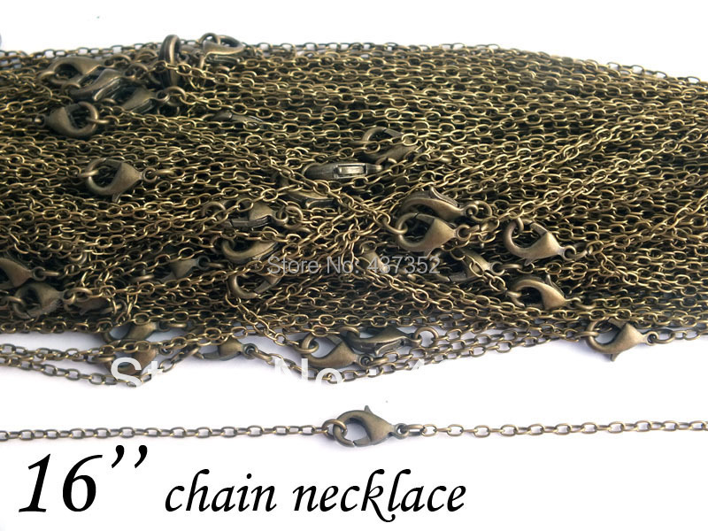 Cable Chain Necklace 2mm 16 inches, Antique Bronze Chain Necklace,Vintage jewelry,wholesale fashion chain necklace<br><br>Aliexpress
