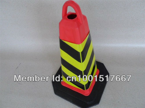 70CM Alert square tapered EVA foam road cone road cone traffic barricades construction warning red cone pressure is not bad