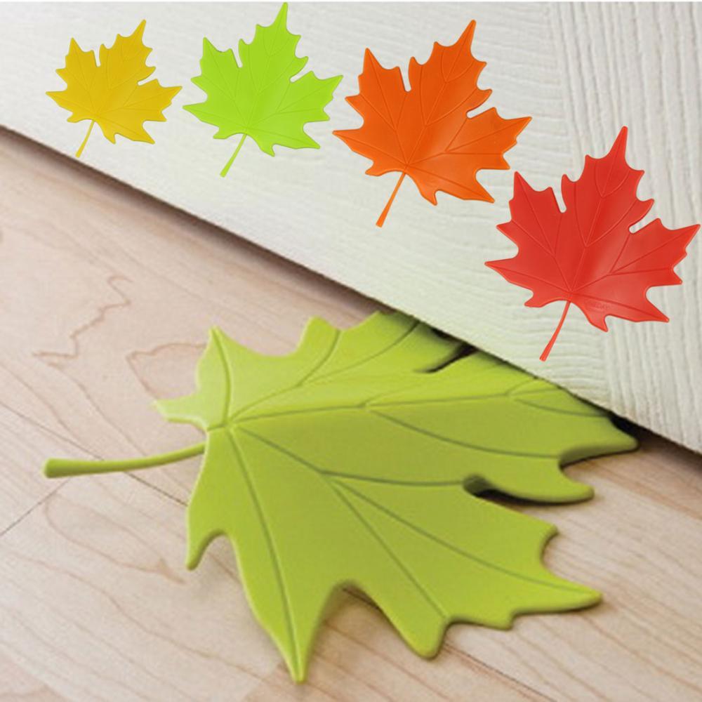 2016 green novelty autumn maple leaf door stopper maple leaf door stops 2pcs lot door holder. Black Bedroom Furniture Sets. Home Design Ideas