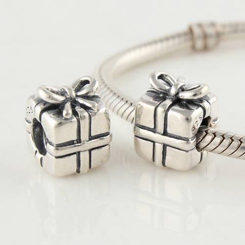 Подходит подвески браслет серебро 925 круг бусины подарочная коробка узор европейский подвески-талисманы своими руками ювелирные изделия выводы