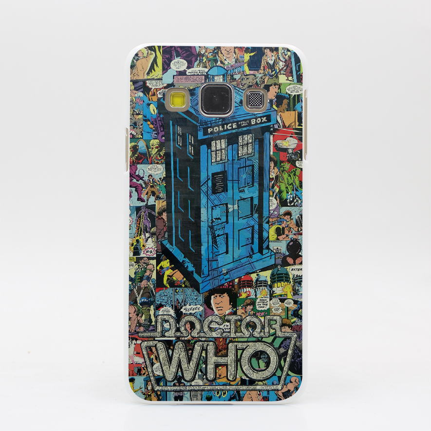 384GS NEW Retro Doctor Who Comic Book P Hard White Case Cover for A3 A5 7 8 & J5 7 & Note 2 3 4 5 Grand 2 & Prime(China (Mainland))