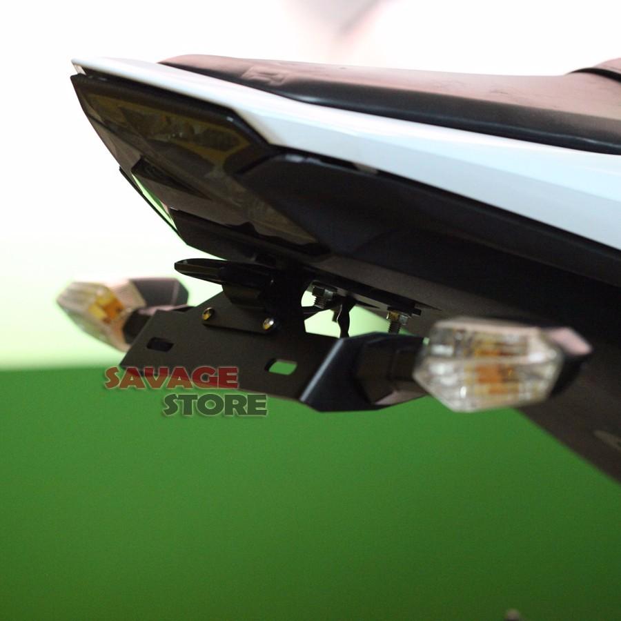 For KAWASAKI Z800 Motorcycle Tail Tidy Fender Eliminator Registration License Plate Holder LED Light 2013 2014 2015 2016 Black