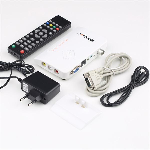 1set Digital TV Box LCD/CRT VGA/AV Stick Tuner Box View Receiver Converter DropShipping!(China (Mainland))