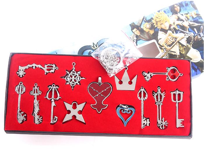 10set/много Королевство сердца игрушки оружие модель брелки подвески 13pcs/набор с коробкой 26x12CM