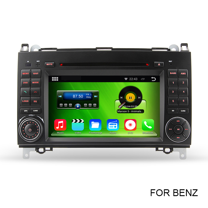 HD 1024*600 Pure Android 4.4 Car DVD Video Player Radio For Mercedes Benz W169 Viano Vito Sprinter With Bluetooth GPS RDS WiFi(China (Mainland))