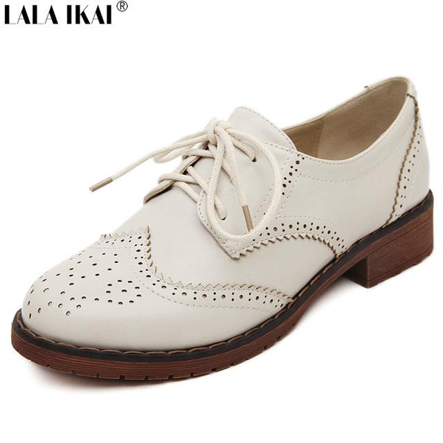 Британский Стиль Оксфорд Обувь для Женщин Из Натуральной Кожи Ретро Башмаки Женщин ...