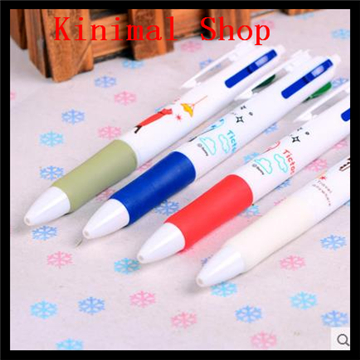 [Kinimal Shop]  Wholesale Stationery   / 4 ink colors  Creative / 0.5  mm / press /multi-function / Ballpoint Pens