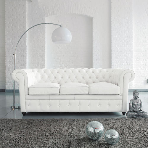 U-BEST high quality white leather chesterfield 3 seater sofa,classical chesterfield sofa ,living room furniture,designer sofa(China (Mainland))