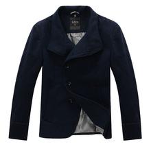 new coat abrigos hombre jacket casaco masculino mens pea wool manteau homme fashion man winter warm coats slim fit134018(China (Mainland))