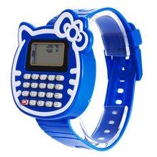 2016 Novo Relogio Meninas Relógio Digital LED Watch Silicone Sports watch Data Multifunções Crianças Relógios Calculadora Relógio De Pulso