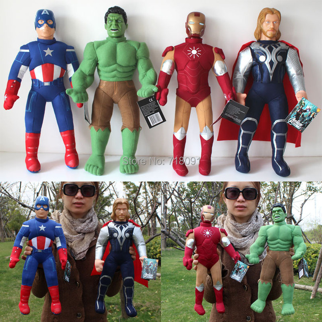 "The Avengers Doll,Plush Stuffed Toy,Captain America/Iron Man/Hulk/Thor for Children Birthday Gifts,16"",1PC"