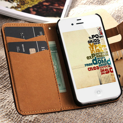 Etui iPhone 4/4S Leather Wallet różne kolory