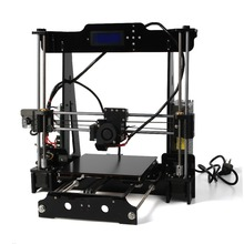 2016 new Acrylic Frame LCD Screen Acquired Reprap Prusa I3 desktop 3D Printer Machine High Precision impressora DIY Kit