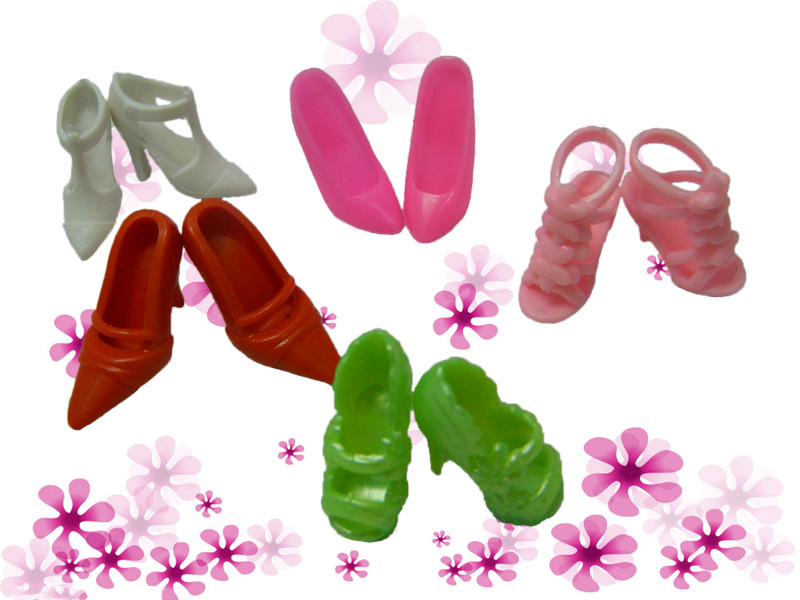 60 Pairs/set Style Heels Sandals Doll Footwear For Barbie Dolls Outfit Costume A number of Designs Xmas Reward For Woman Toy
